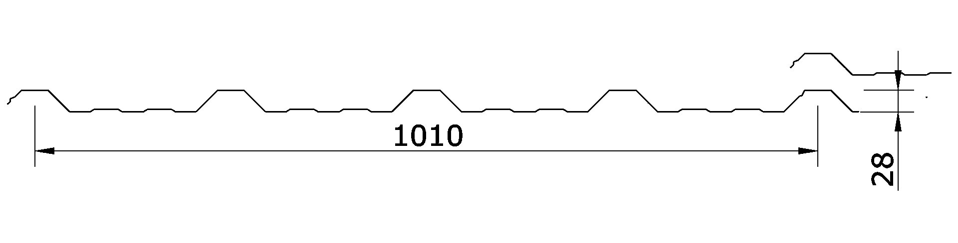 Chapa Trapezoidal T-101
