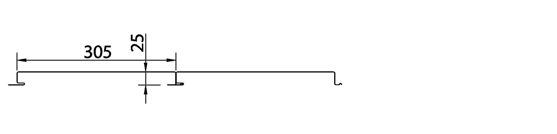 Perfil Cielorraso Fachada (Flush Panel) de acero Ternium