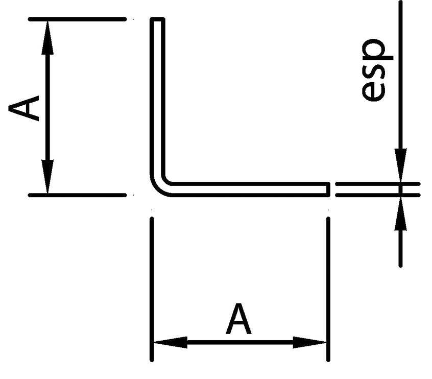 "erfil Estructural Ángulo ""L"""