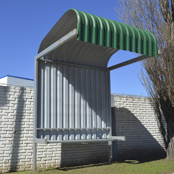 Refugio Peatonal de chapa curva T-98 de acero