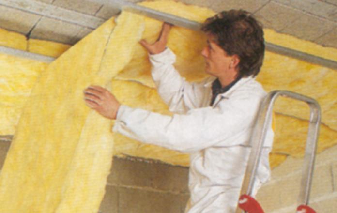 Aislación de lana de vidrio Isover Acustiver R